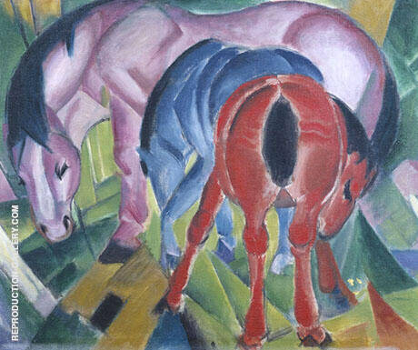 Mare with Foals 1912 By Franz Marc