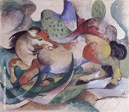 Leaping Horse 1913 By Franz Marc