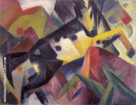 Leaping Horse 1912 By Franz Marc