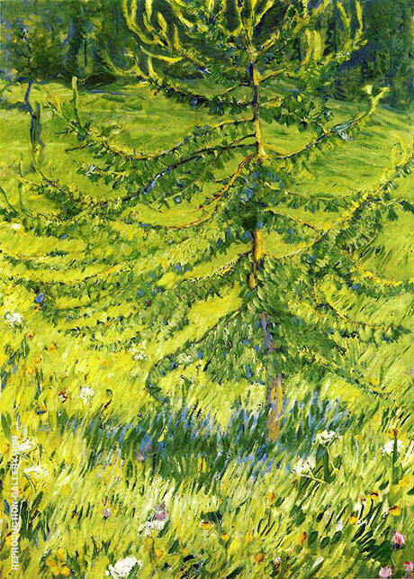 Reproduction of Larch Sapling 1908 by Franz Marc | Oil Painting Replica On CanvasReproduction Gallery