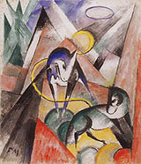 Landscape with Two Horses 1913 By Franz Marc