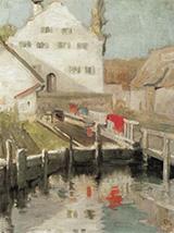Indersdorf 1904 By Franz Marc