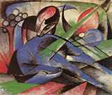 Dreaming Horse 1913 By Franz Marc