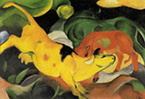 Cows Yellow Red Green 1912 By Franz Marc