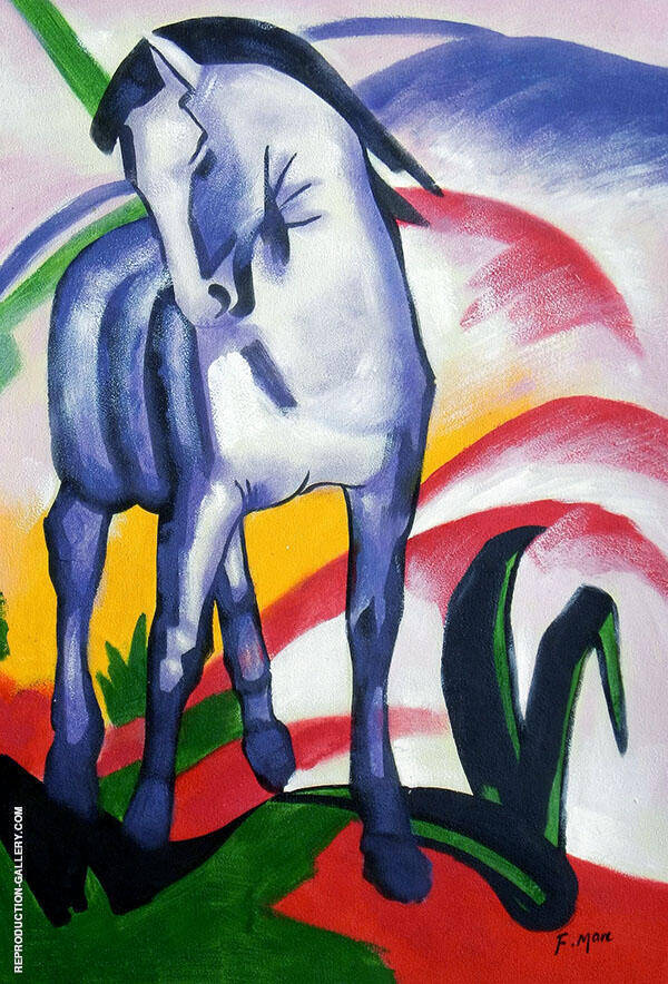Blue Horse I 1911 By Franz Marc
