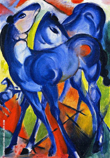 Blue Foals 1913 By Franz Marc - Oil Paintings & Art Reproductions - Reproduction Gallery