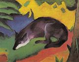 Blue Black Fox 1911 By Franz Marc