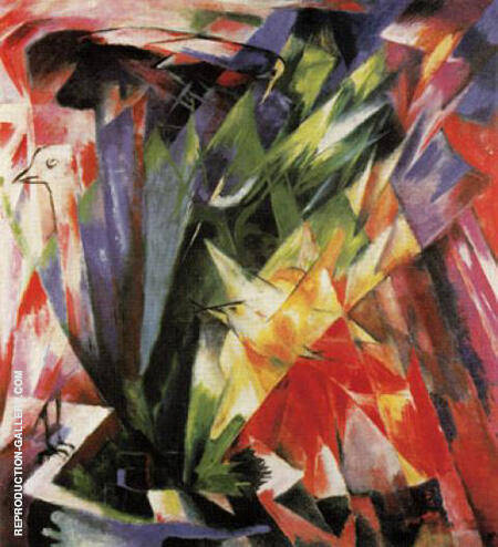 Birds 1914 By Franz Marc - Oil Paintings & Art Reproductions - Reproduction Gallery