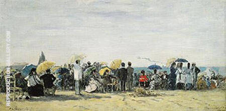The Beach at Trouville 1873 By Eugene Boudin - Oil Paintings & Art Reproductions - Reproduction Gallery