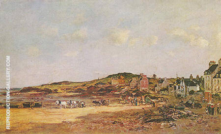 The Port of Portrieux 1874 By Eugene Boudin - Oil Paintings & Art Reproductions - Reproduction Gallery