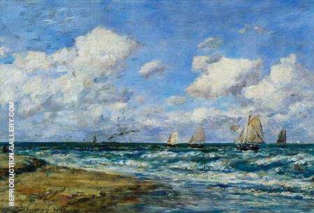 Marine Scene 1894 By Eugene Boudin - Oil Paintings & Art Reproductions - Reproduction Gallery