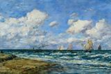 Marine Scene 1894 By Eugene Boudin