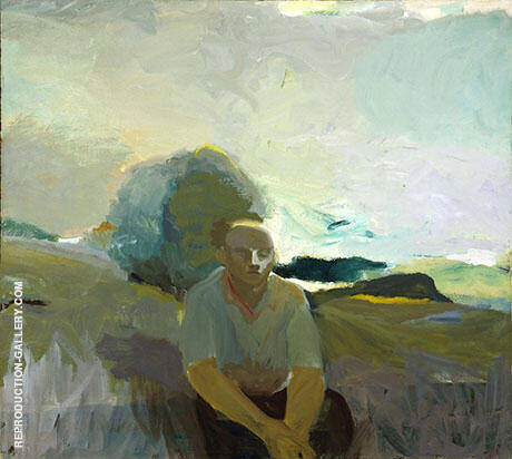 Figure in Landscape 1957 By Elmer Bischoff - Oil Paintings & Art Reproductions - Reproduction Gallery