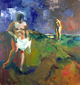 Two Bathers 1960 By Elmer Bischoff