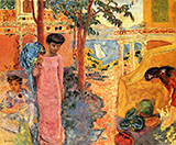 Girl with Parrot 1910 By Pierre Bonnard