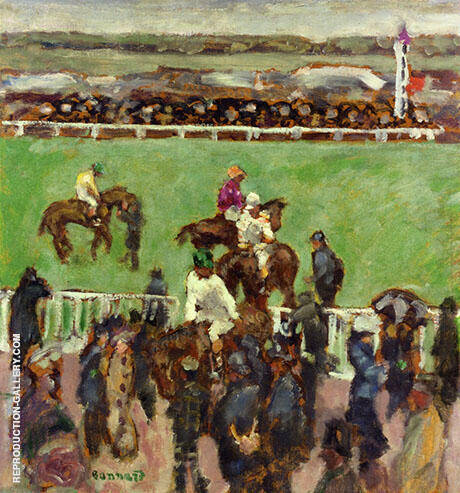 Races at Longchamp 1894 Painting By Pierre Bonnard - Reproduction Gallery