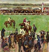 Races at Longchamp 1894 By Pierre Bonnard