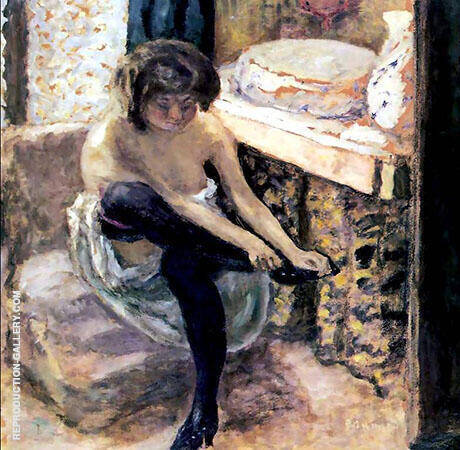 Woman in Black Stockings 1900 By Pierre Bonnard