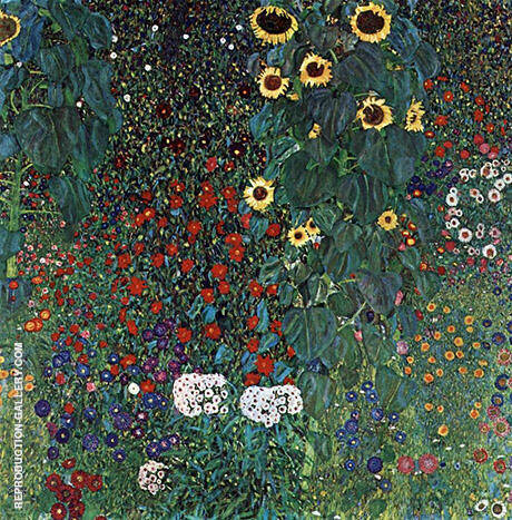 Farm Garden with Sunflowers1916 By Gustav Klimt