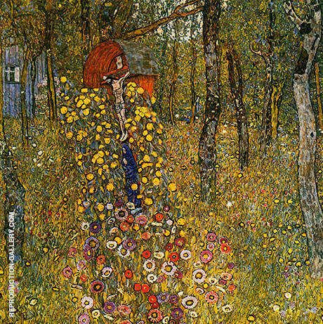 Farm Garden with Crucifix By Gustav Klimt