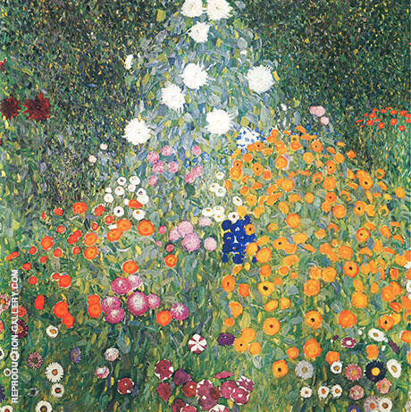 Flower Garden 1907 By Gustav Klimt