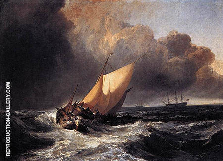 Dutch Boats in a Gale 1801 By Joseph Mallord William Turner