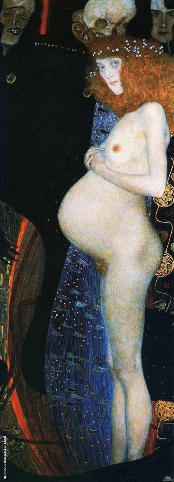 Hope 1 1903 By Gustav Klimt