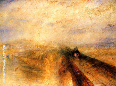 Rain Steam and Speed The Great Western Railway 1844 By Joseph Mallord William Turner - Oil Paintings & Art Reproductions - Reproduction Gallery