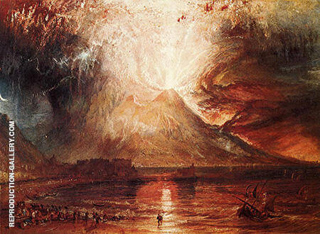 Mount Vesuvius in Eruption 1817 By Joseph Mallord William Turner