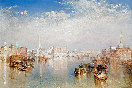 View of Venice The Ducal Palace Dogana and Part of San Giorgio 1841 By Joseph Mallord William Turner - Oil Paintings & Art Reproductions - Reproduction Gallery
