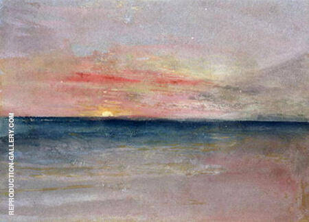 Sunset By Joseph Mallord William Turner