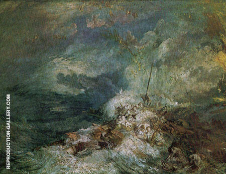 Fire at Sea By Joseph Mallord William Turner