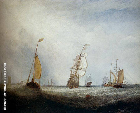 Helvoetsluys Ships going out to sea 1832 By Joseph Mallord William Turner