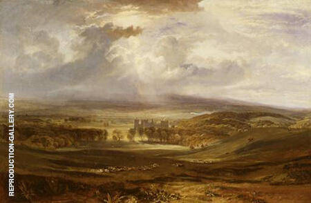 Raby Castle The Seat Of The Earl Of Darlington By Joseph Mallord William Turner - Oil Paintings & Art Reproductions - Reproduction Gallery