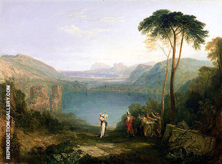 Lake Avernus Aeneas and the Cumaean Sibyl c1814 By Joseph Mallord William Turner