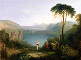 Lake Avernus Aeneas and the Cumaean Sibyl c1814 By Joseph Mallord William Turner