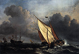 Dutch Fishing Boats in a Storm By Joseph Mallord William Turner