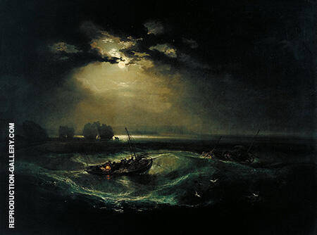 Fishermen at Sea By Joseph Mallord William Turner - Oil Paintings & Art Reproductions - Reproduction Gallery