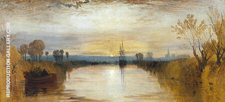 Chichester Canal 1828 By Joseph Mallord William Turner - Oil Paintings & Art Reproductions - Reproduction Gallery