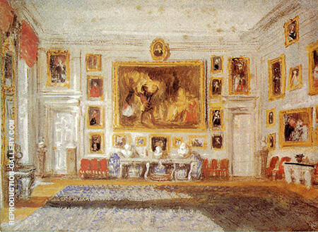 Petworth the Drawing room By Joseph Mallord William Turner - Oil Paintings & Art Reproductions - Reproduction Gallery