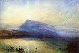 The Blue Rigi Lake of Lucerne Sunrise By Joseph Mallord William Turner
