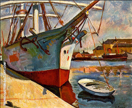 Ship at Le Havre 1905 By Georges Braque