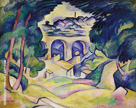 The Viaduct at L'Estaque By Georges Braque