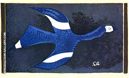 A Bird Passing through a Cloud c1957 II By Georges Braque