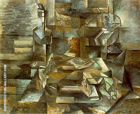 Bottle and Fishes Painting By Georges Braque - Reproduction Gallery