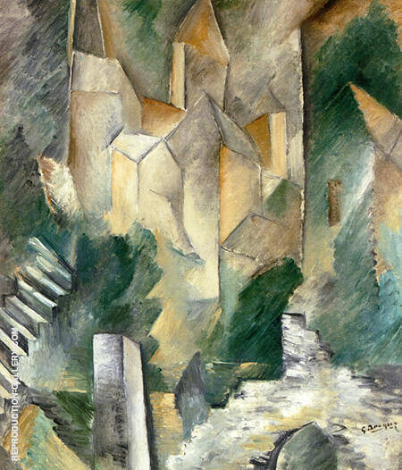 The Church of Carrieres-Saint-Denis 1909 By Georges Braque