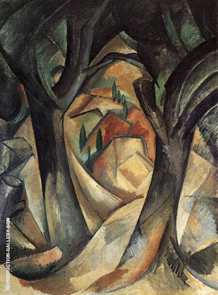 Big Trees at Estaque By Georges Braque