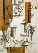 Fruit Dish and Glass By Georges Braque