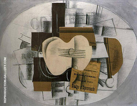 Guitar Program statue d'epouvante 1913 By Georges Braque