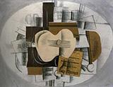 Guitar Program statue d'epouvante 1913 By Georges Braque